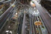 La Sagrada Familia, the unrealistic cathedral designed by Gaudi — Stock Photo