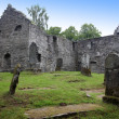 Ruins of Gothic old cemetery, Scotland, UK — Stock Photo