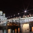 Stock Photo: Famous and Beautiful Night View Cathedral of Jesus Christ the Saviour