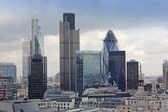 Famous skyscrapers of London's financial district — Stock fotografie
