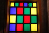 Window of colored glass — Stock Photo