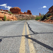 Stock Photo: Road in USA, Arches National Park near Moab