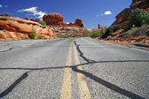 Road in the USA, Arches National Park near Moab — Stock Photo