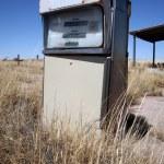 Old abandoned vintage USA gas station — Stock Photo #38764093