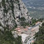 Santa Maria de Montserrat Abbey in Monistrol de Montserrat, Catalonia, Spain. — Stock Photo #38764443