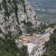 Santa Maria de Montserrat Abbey in Monistrol de Montserrat, Catalonia, Spain. — Stock Photo #38764443