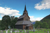Old wood Kaupanger Stave Church, Norway — Stock Photo