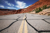 Road in the USA, south desert Utah — Stock Photo