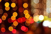 Abstract lights, flash circle, night city — Stock Photo