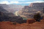 Gran cañón y río colorado — Foto de Stock