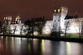 Russian orthodox churches in Novodevichy — Stock Photo