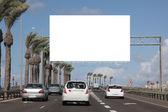Empty roadside billboards — 图库照片