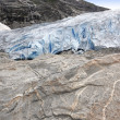 Briksdalsbreen glacier — Stock Photo
