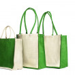 Shopping bag made out of recycled Hessian sack — Stock Photo