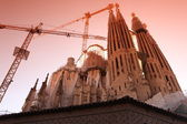 BARCELONA SPAIN - JUNE 9: La Sagrada Familia — Stock Photo