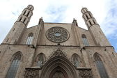 Facade of Santa Maria del Mar Church in Barcelona, Spain — Stock Photo