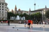 Touristic streets in Barcelona — Stock Photo