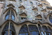 Detail of modernist Casa Batllo facade in Barcelona, Spain — Stock Photo