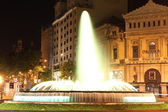 Montjuic Fountain in Barcelona, Spain — Stock Photo