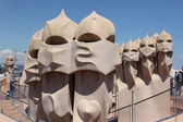Casa Mila, Gaudi, Barcelona — Stock Photo
