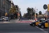 Streets in Barcelona — Stock Photo