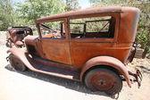 Zničit staré opuštěné americké auto, usa — Stock fotografie