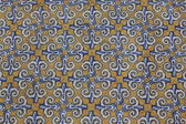 Valencia, Spain - old ceramic tiles background — 图库照片