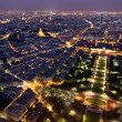 Night view to Paris — Stock Photo