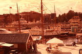 View of Oslo bay, Radhuset, Norway — 图库照片