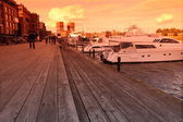 View of Oslo bay, Radhuset, Norway — Stockfoto