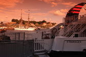 Old port and fortress of Oslo, Norway — Stock Photo