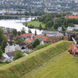 Panoramic view on city of Trondheim — Stock Photo