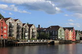 Old Storehouses in Trondheim, Norway — Foto Stock