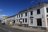 Old houses in Trondheim, Norway — Foto Stock