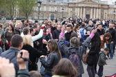 People on Passarelle des Arts. — Stock Photo