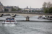 Boat on Seine — Stock Photo