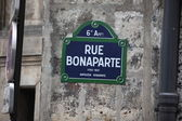 Rue bonaparte street sign — Stock Photo