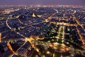 巴黎夜景 — 图库照片