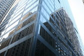 Classical New York - reflections in skyscrapers — Стоковое фото