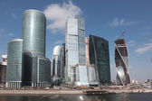 International business center with  Moskva river — Stock Photo