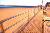 Evening in Brighton Beach of Coney Island — Stockfoto