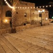Old street of Jaffa, Tel Aviv in the night, Israel — Stock Photo