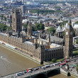 House of Parliament with Big Ben tower with Thames river in Lond — Stock Photo