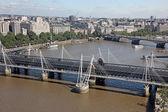London from London Eye, UK — Stock Photo