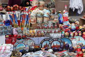 Russian souvenirs on street market — Stock Photo