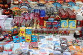 Russian souvenirs on street market — Stock Photo