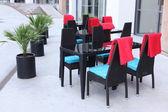 Klassiska europeiska street café — Stockfoto