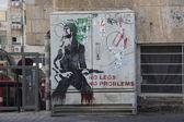 No legs, no problems. graffiti in jerusalem — Stockfoto
