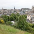 Edinburgh vista from Calton Hill including Edinburgh Castle — Stock Photo