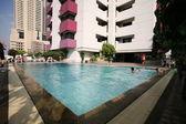 Detalle de la piscina en balneario — Foto de Stock